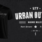 Urban Outlaw Vintage Text T-shirt on black