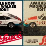 Schuco Collectibles and Urban Outlaw Porsche 911 Model Car Promo Design.