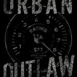Urban Outlaw Porsche Racing Rev Counter one color T-shirt Design