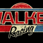 Walker Racing T-shirt logo in red white and blue