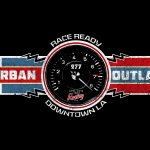 Urban Outlaw Race Ready T-shirt artwork with lightning bolts