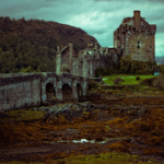 Historic Eilean Donan castle in Scotland.